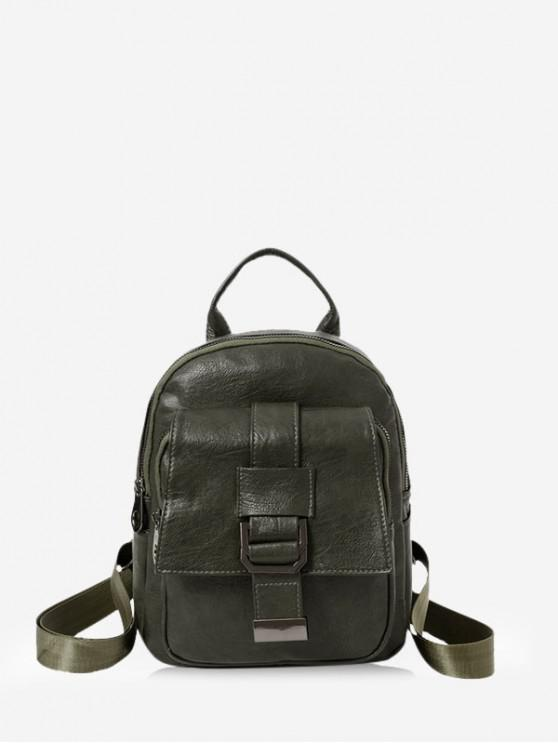 buy Belted Accent Leather Small Backpack - MEDIUM SEA GREEN