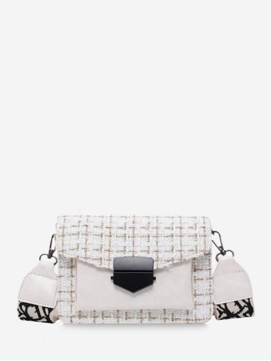 shops Hasp Woolen Shoulder Bag - WARM WHITE