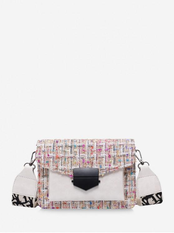 women Hasp Woolen Shoulder Bag - PINK ROSE