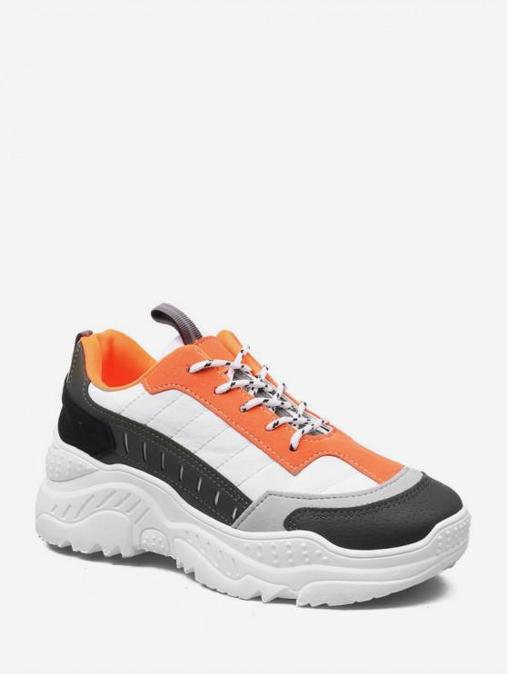 outfits Color-blocking Comfortable Outdoor Sneakers - PUMPKIN ORANGE EU 37