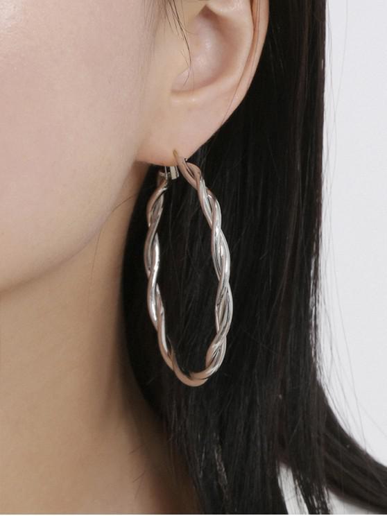 new Twist Hoop Earrings - SILVER