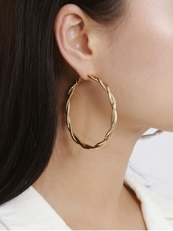 hot Twist Hoop Earrings - GOLD