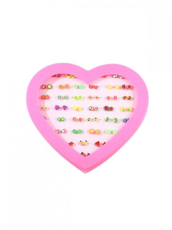sale 36Pairs Fruit Stud Earrings Set - MULTI