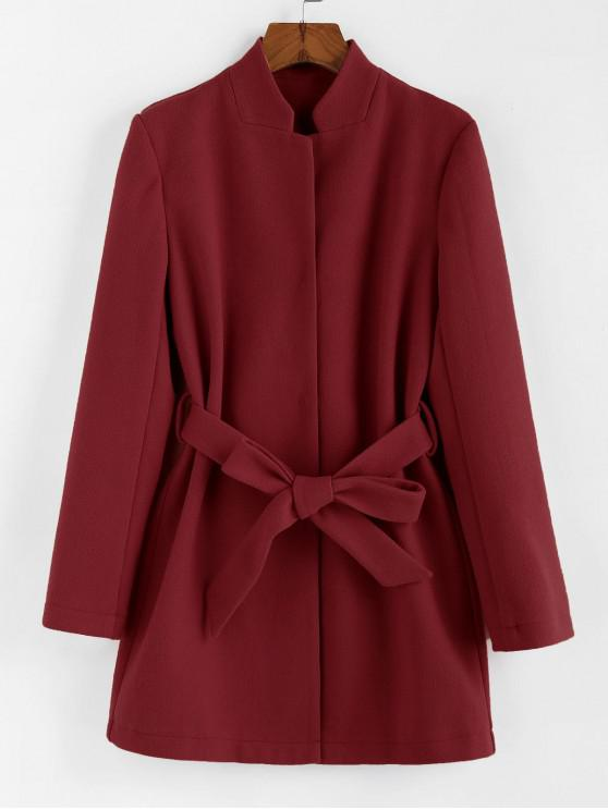 Cappotto a Tunica con Cintura di ZAFUL - Vino Rosso S
