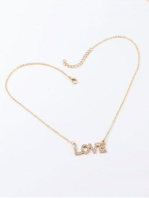 Горный хрусталь Ажурная буква С подвеской Ожерелье - Золотой  Mobile