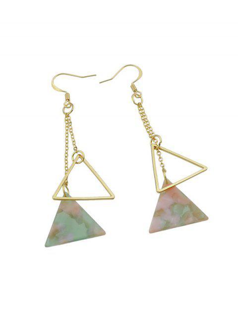 Мраморные Ажурные Серьги Треугольник - Светло-розовый  Mobile
