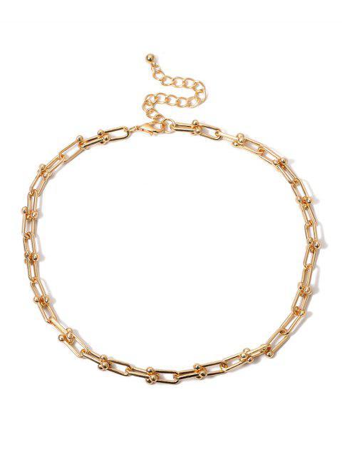 U-пряжка Цепное Ожерелье - Золотой  Mobile