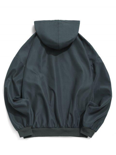 落肩固抽繩連帽外套 - 灰色 XL Mobile