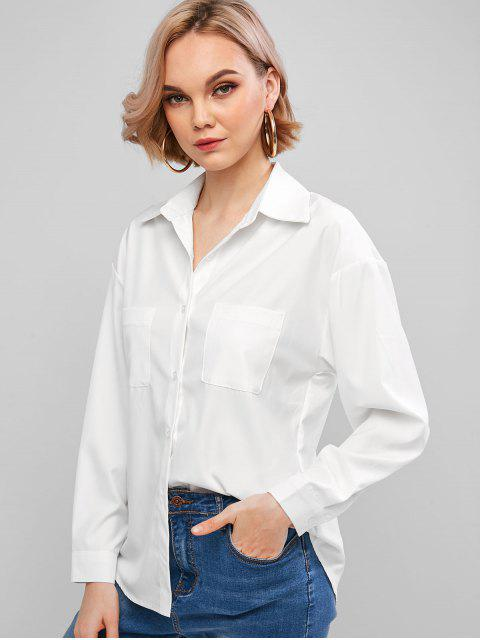 womens Basic Front Pocket Shirt - WHITE M Mobile