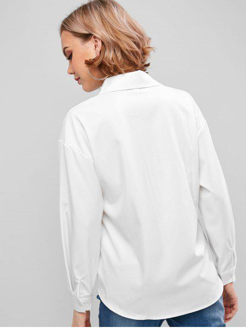 sale Basic Front Pocket Shirt - WHITE L Mobile