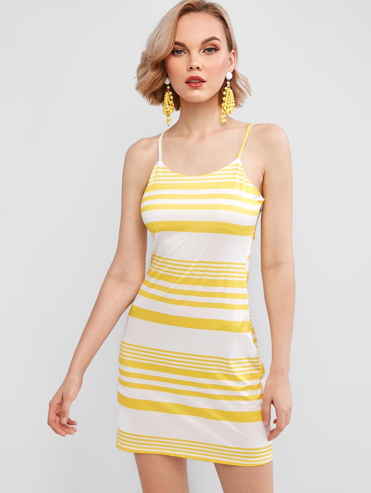 Striped Mini Cami Dress