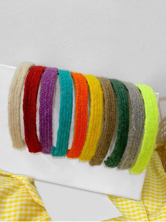 women 10Pcs Hair Accessory Knit Head Bands - MULTI-A