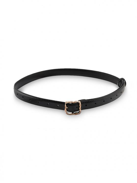 outfit Twist Square Pin Buckle Belt - BLACK