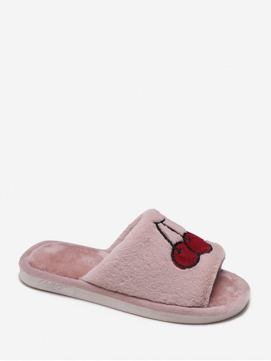 可愛的刺繡模糊室內鞋 - 粉 歐盟39