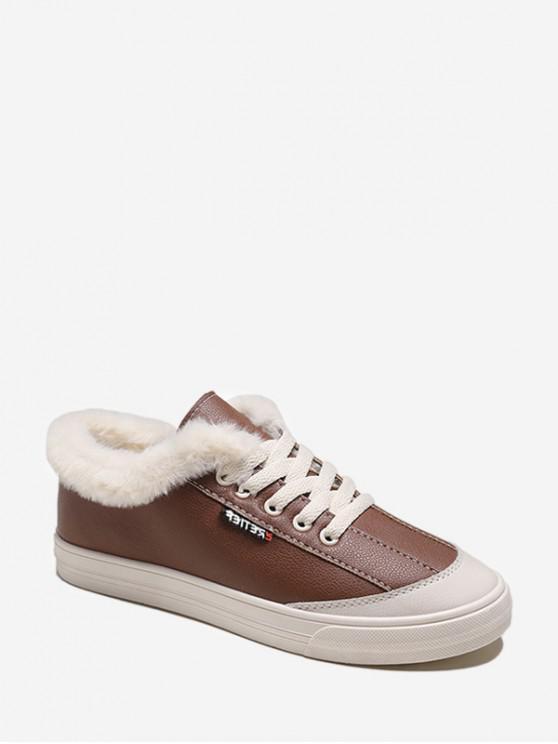 模糊領休閒滑板鞋 - 駱駝棕色 歐盟39