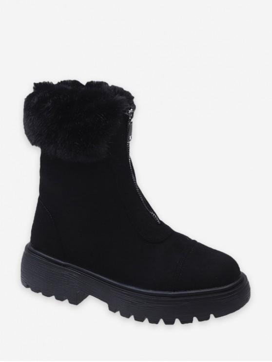 الجبهة الرمز الياقة ضبابي قصيرة أحذية - أسود الاتحاد الأوروبي 39