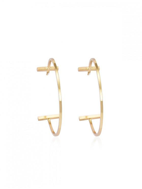 hot Brief C-shape Stud Earrings - GOLD