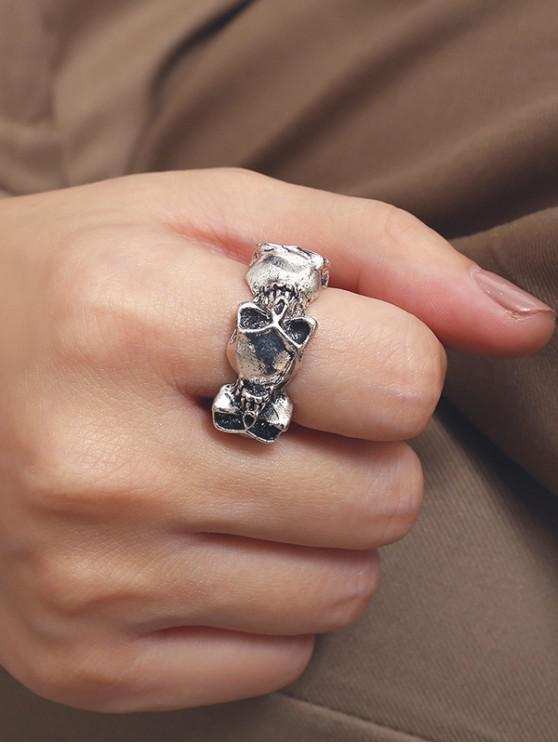 outfit Alloy Retro Skull Ring - SILVER