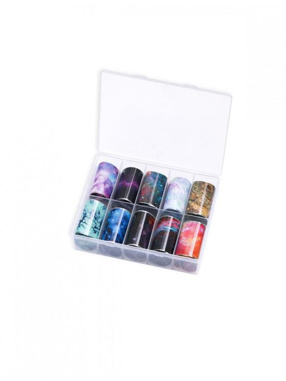 latest 10 PCS Colorful Printed Nail Stickers - MULTI-C
