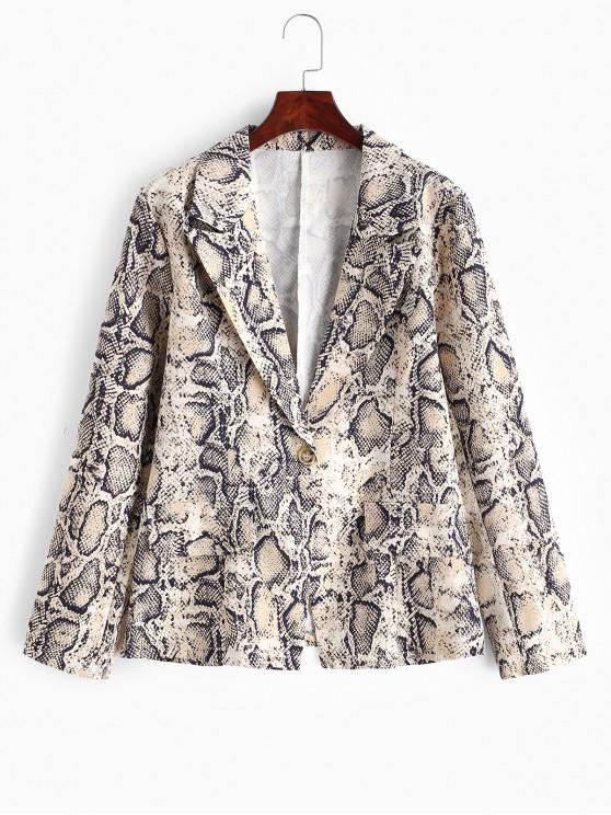 shops One Buttoned Snakeskin Print Blazer - MULTI-A S