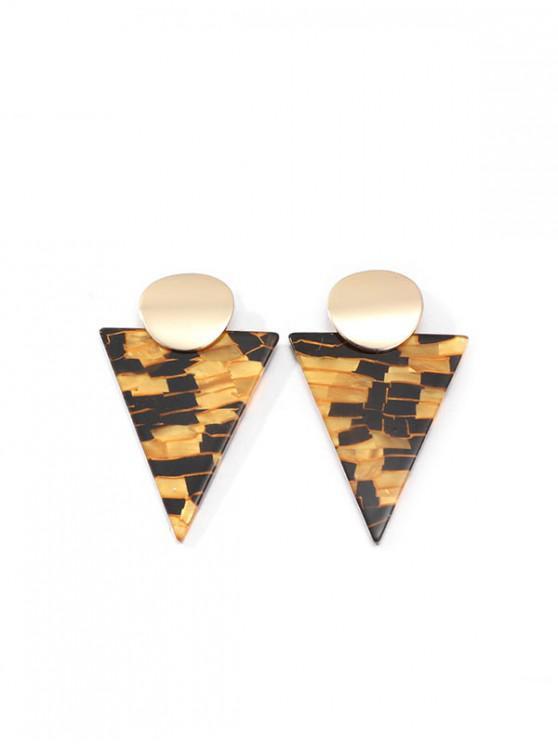 Pendientes Marbling triángulo - Marrón Claro
