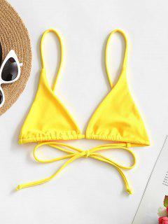 Bikini Top Di ZAFUL In Tinta Unita - Giallo S