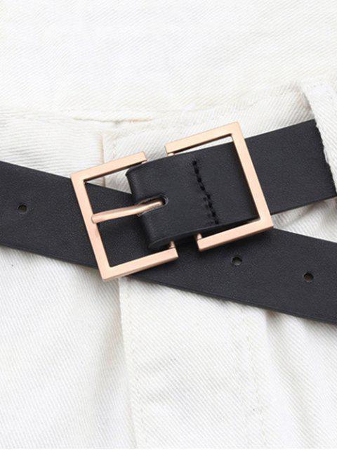 Прямоугольная пряжка Пояс - Чёрный  Mobile