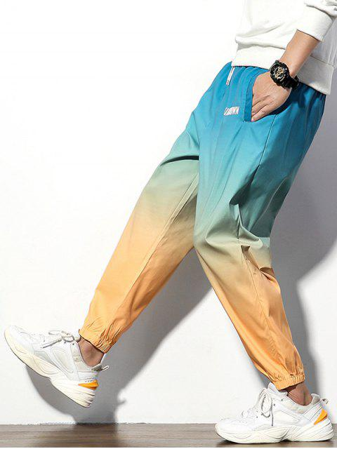 sale Colorful Printed Letter Pattern Casual Pants - MULTI 2XL Mobile