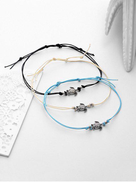 3шт Сплав Морская черепаха Пляжный Ножной Браслет - Серебристый  Mobile