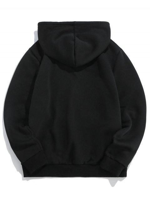 ZAFUL信貓打印小袋連帽衫 - 黑色 S Mobile