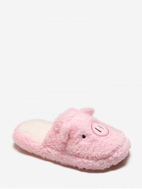 Принт свиньи Плюшевые Туфли С закрытым носком - Розовый ЕС 39 Mobile