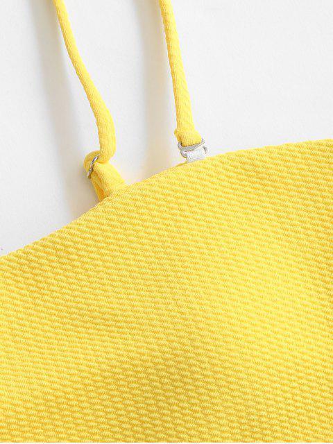 ZAFUL Bikini Bandeau con Textura - Amarillo XL Mobile