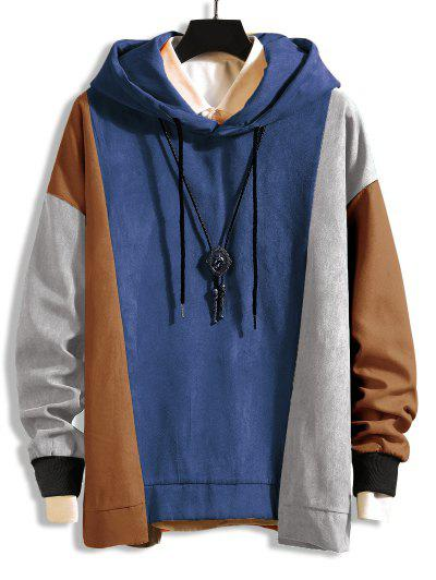 Drop Shoulder Asymmetrical Hem Hoodie