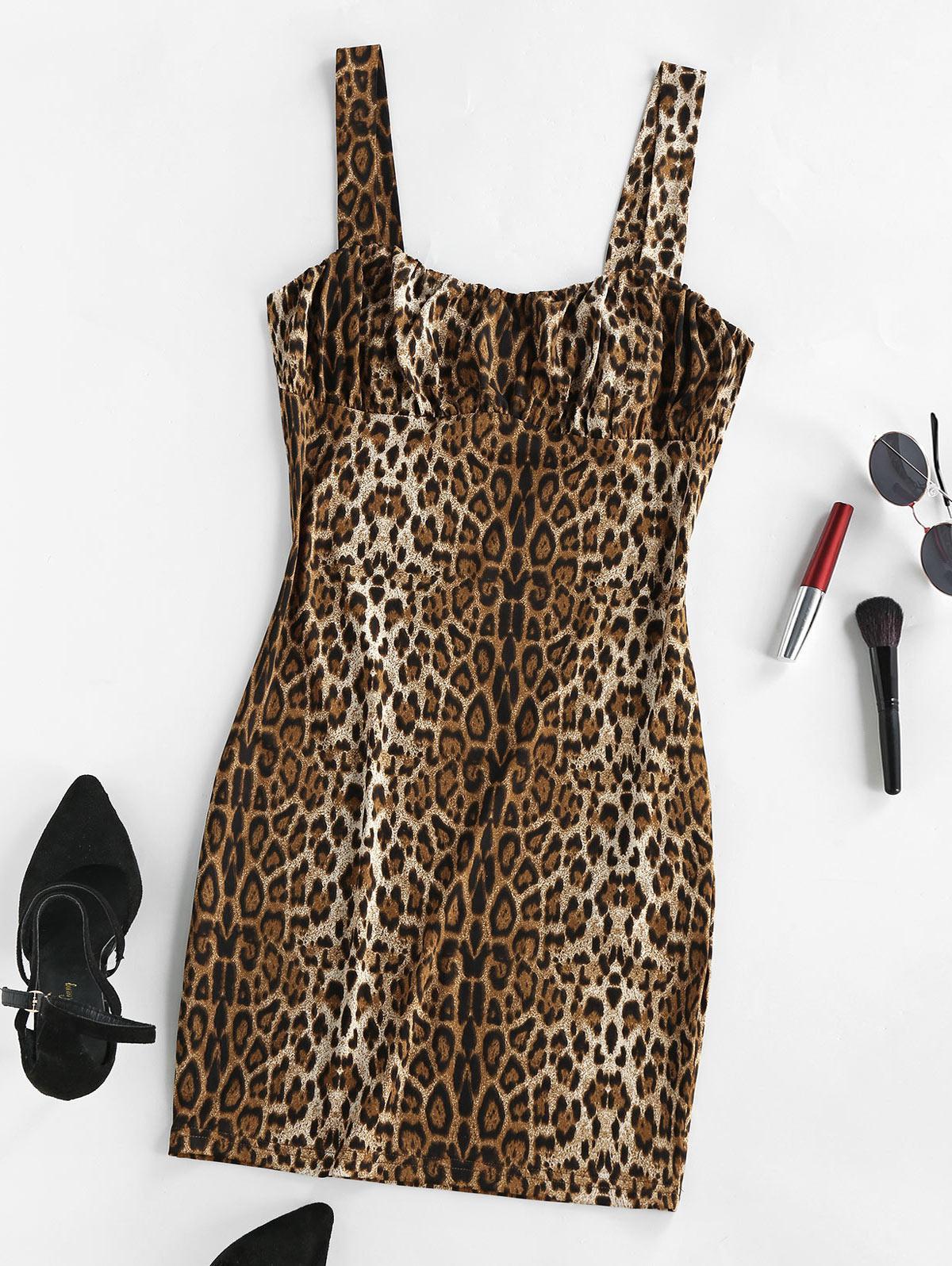 ZAFUL Leopard Print Bodycon Dress