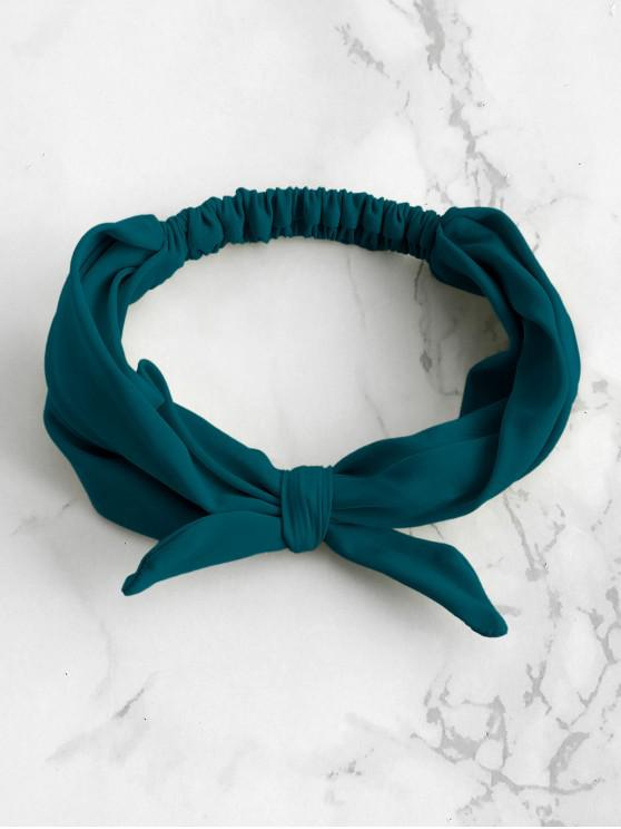 latest ZAFUL Elastic Bowknot Beach Headband - PEACOCK BLUE ONE SIZE