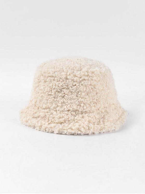 الصلبة الشتاء امبسوول قبعة دلو - اللون البيج