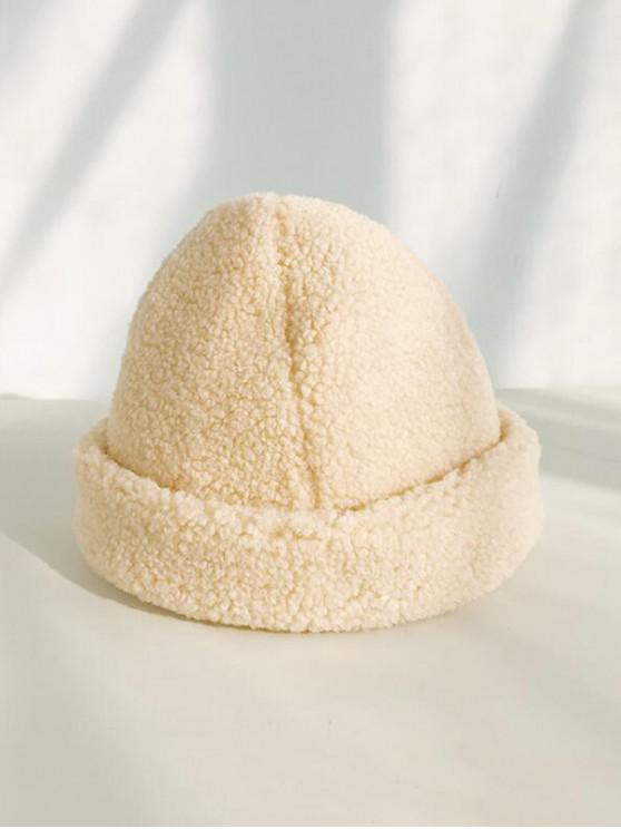 الشتاء الصلبة البربرية قبعة الصوف - اللون البيج