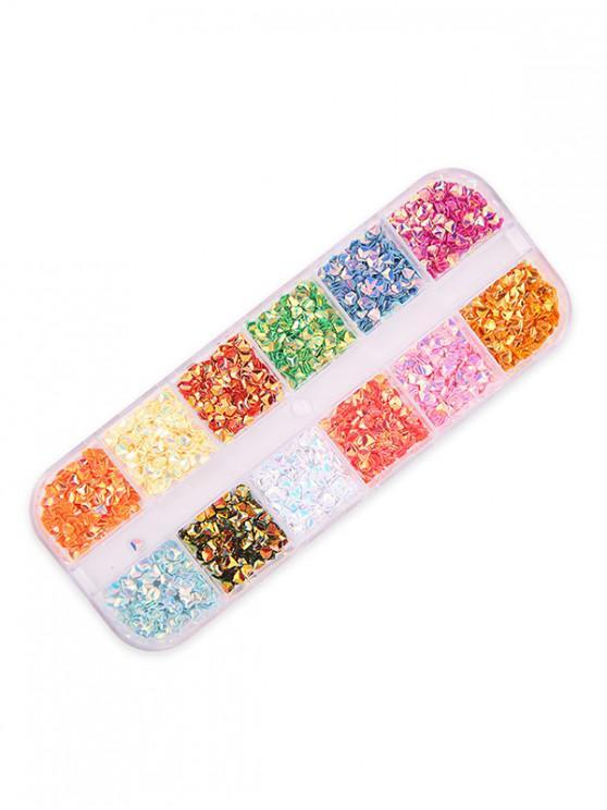 12 colores mezclados decoración del clavo con lentejuelas - Multicolor-D