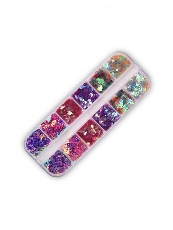 Luna y las estrellas de lentejuelas Mixta de uñas herramienta de Decoración - Multicolor-B