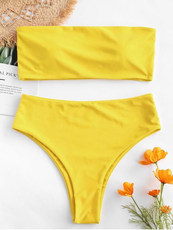 Bikini a Fascia a Vita Alta ZAFUL - Giallo S