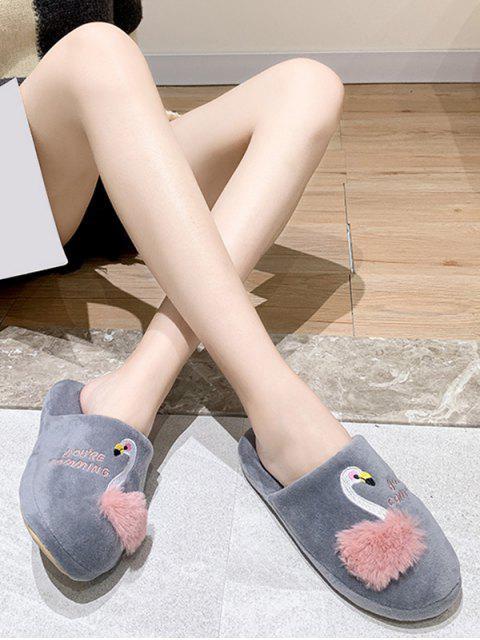 Плюшевые Туфли С открытым носком Принт лебедя - Серый ЕС 36 Mobile