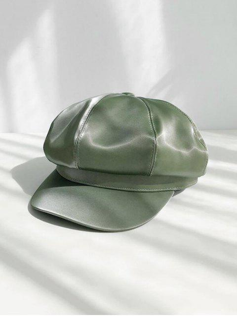 outfit Solid Octagonal PU Peaked Hat - ARMY GREEN  Mobile
