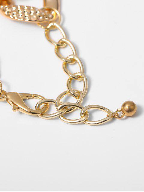 Цепное Ожерелье На ключице Горный хрусталь - Золотой  Mobile