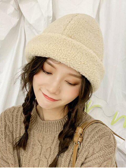Зимняя Одноцветная Шляпа Шерсть - Бежевый  Mobile