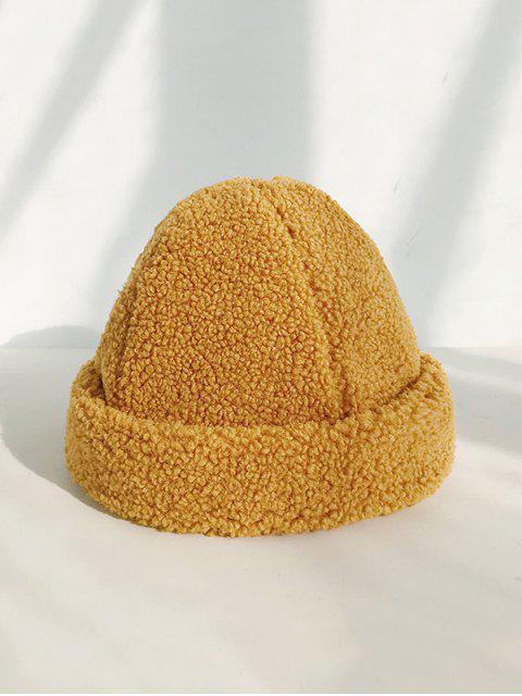 womens Winter Solid Berber Fleece Hat - YELLOW  Mobile