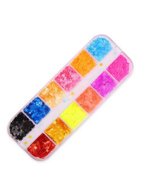 12 цветов С блестками ЗвездаУкрашениеИнструментдляногтей - Многоцветный-A  Mobile