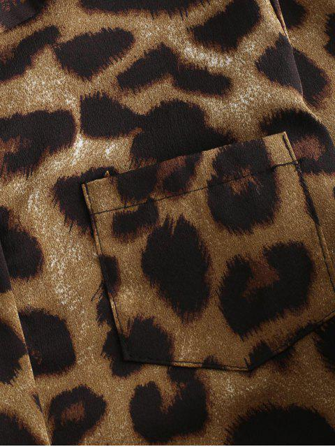 outfit Leopard Pocket Button Up Shirt - MULTI-A M Mobile