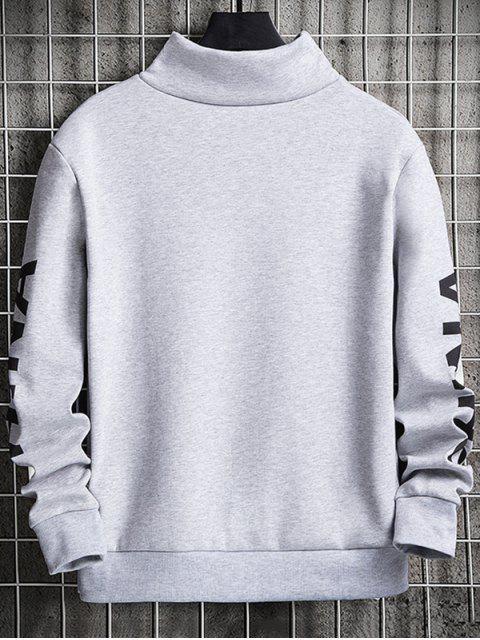 中國信打印拼布模擬領運動衫 - 牛奶白色 S Mobile