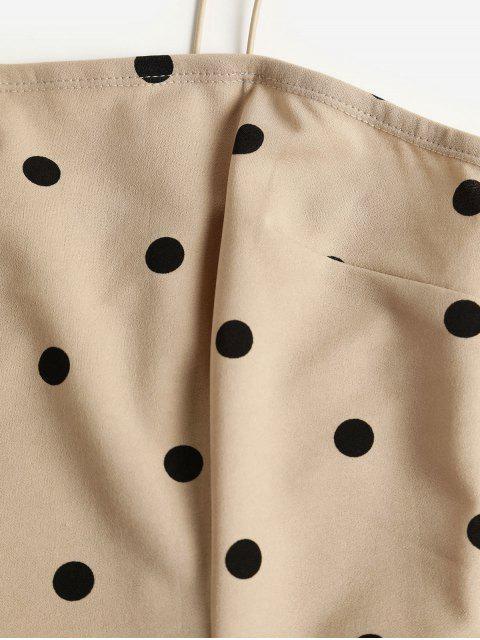 ZAFUL Vestido Mini Cami Ajustado con Lunares - Tan L Mobile