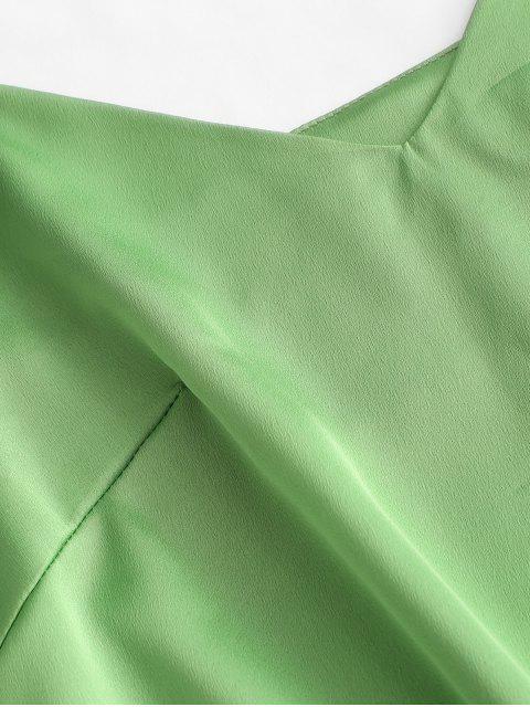 ZAFUL Satin Crop Cami Top mit Offenem Rücken - Grün M Mobile